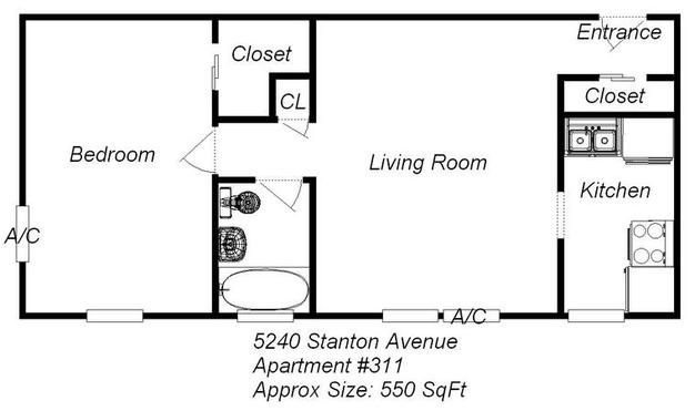 1 Bedroom 1 Bathroom Apartment for rent at 5240 Stanton Ave in Pittsburgh, PA