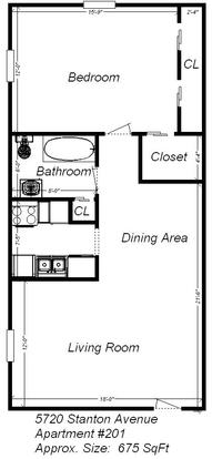 1 Bedroom 1 Bathroom Apartment for rent at 5720 Stanton Ave in Pittsburgh, PA