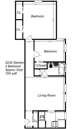 2 Bedrooms 1 Bathroom Apartment for rent at 5208-5240 Stanton Ave in Pittsburgh, PA