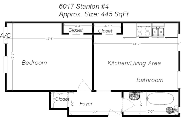 Studio 1 Bathroom Apartment for rent at 6017 Stanton Ave in Pittsburgh, PA