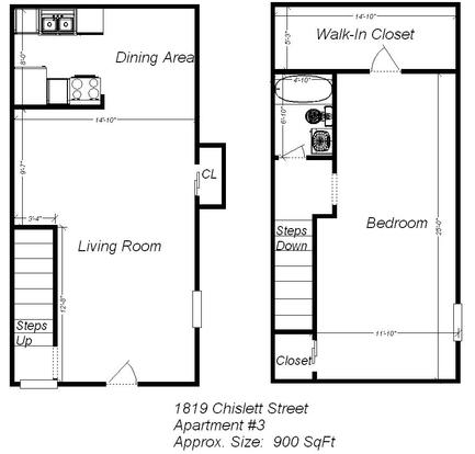 1 Bedroom 1 Bathroom Apartment for rent at 1819 Chislett Street in Pittsburgh, PA