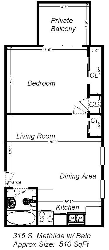 1 Bedroom 1 Bathroom Apartment for rent at 316 S Mathilda St in Pittsburgh , PA