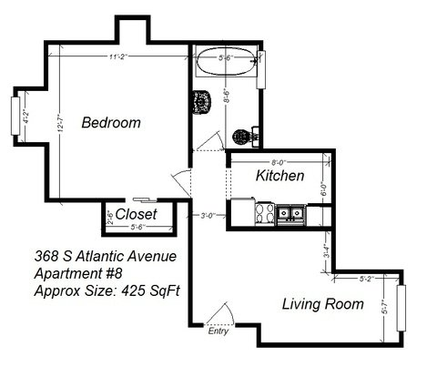 1 Bedroom 1 Bathroom Apartment for rent at 368 S Atlantic Ave in Pittsburgh, PA