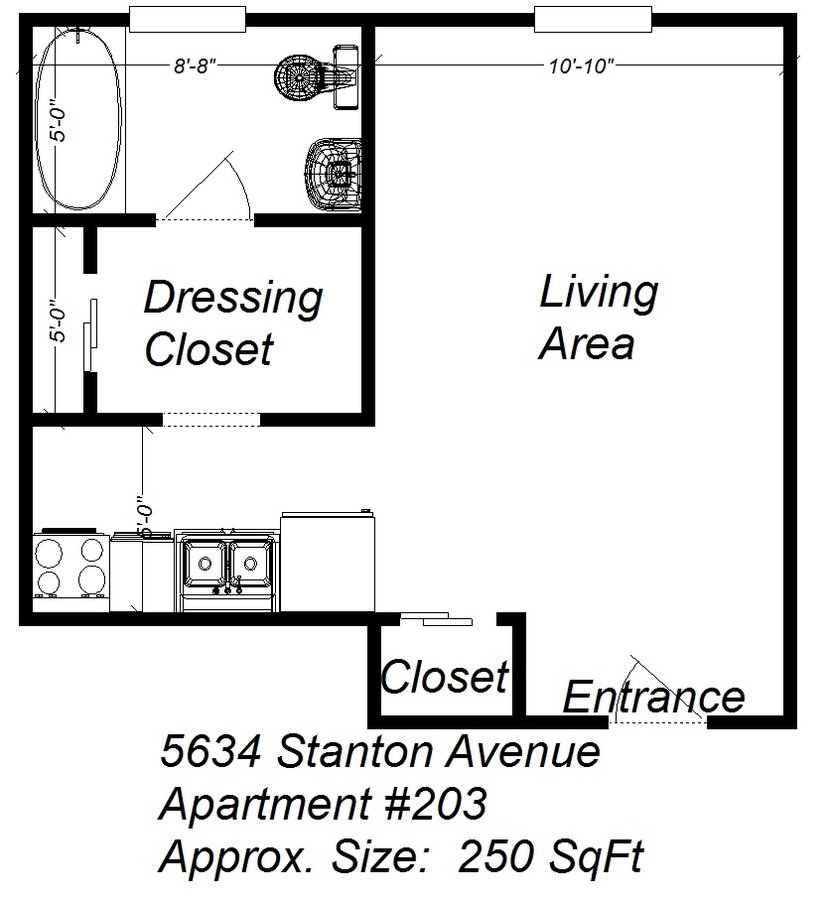 Studio 1 Bathroom Apartment for rent at 5634 Stanton Ave in Pittsburgh, PA