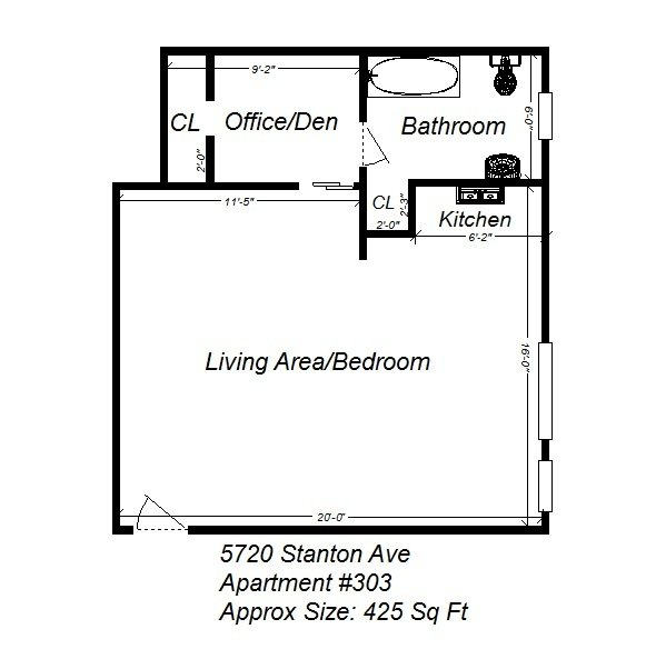 Studio 1 Bathroom Apartment for rent at 5720 Stanton Ave in Pittsburgh, PA