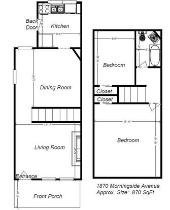 2 Bedrooms 1 Bathroom Apartment for rent at 1866-1870 Morningside Ave in Pittsburgh, PA