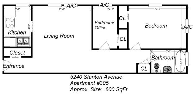 2 Bedrooms 1 Bathroom Apartment for rent at 5240 Stanton Ave in Pittsburgh, PA