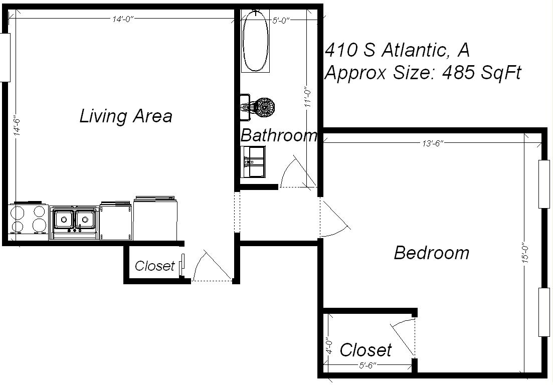 1 Bedroom 1 Bathroom Apartment for rent at 410 S Atlantic Ave in Pittsburgh, PA