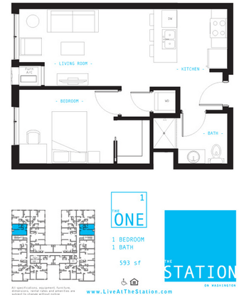 1 Bedroom 1 Bathroom Apartment for rent at The Station on Washington in Minneapolis, MN