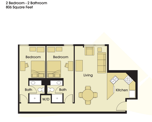 2 Bedrooms 2 Bathrooms Apartment for rent at Stadium View Student Apartments in Minneapolis, MN