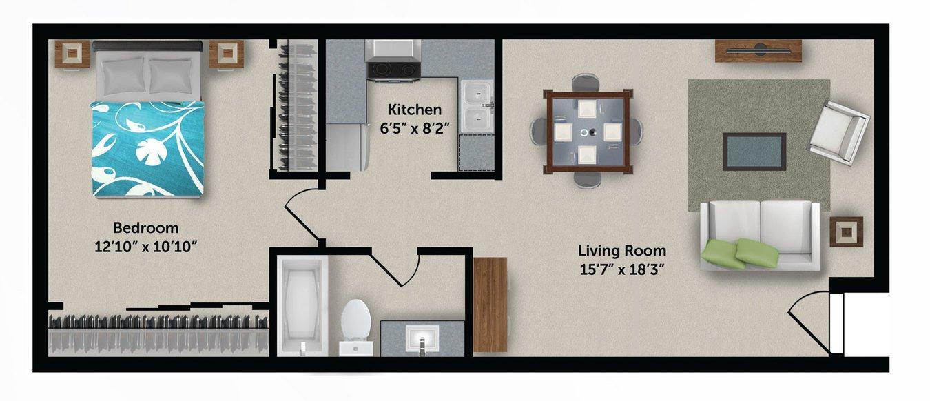1 Bedroom 1 Bathroom Apartment for rent at Bloom 24 Apartments in Phoenix, AZ