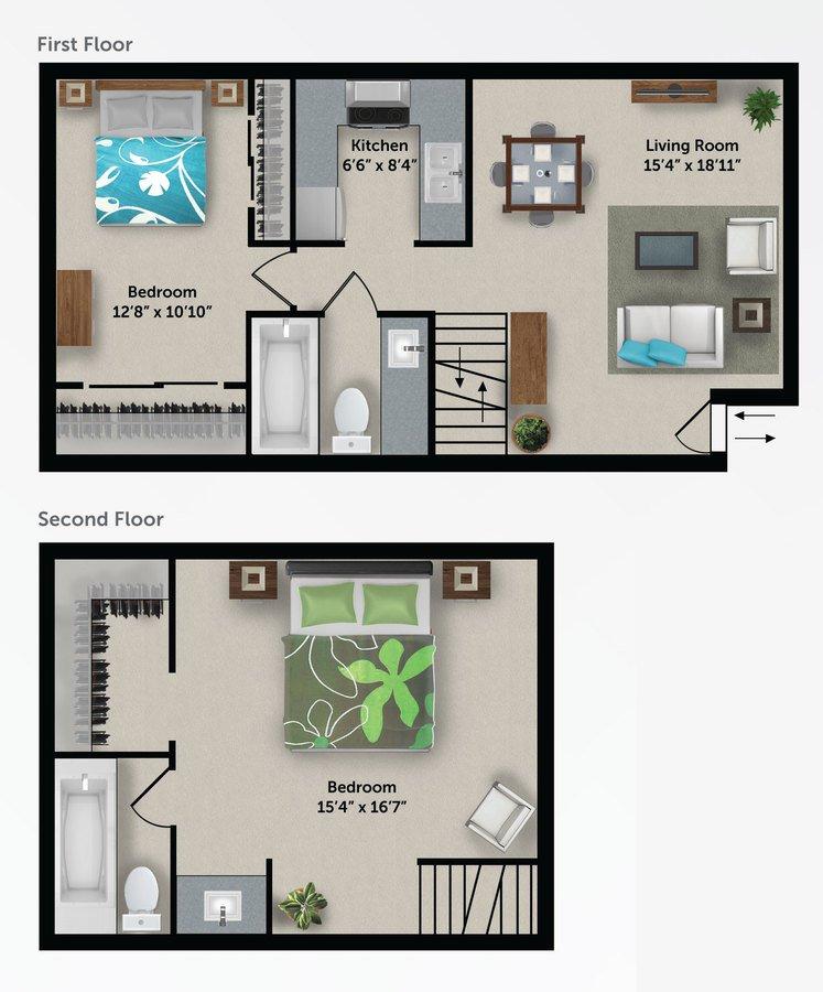 2 Bedrooms 2 Bathrooms Apartment for rent at Bloom 24 Apartments in Phoenix, AZ