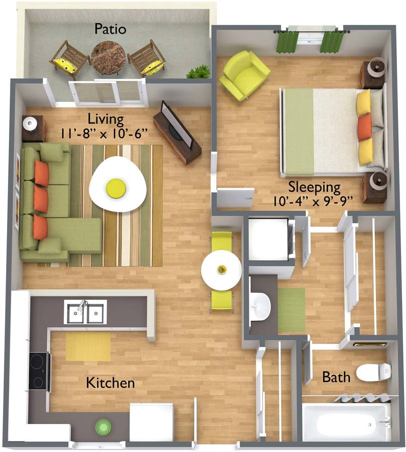 1 Bedroom 1 Bathroom Apartment for rent at Brookfield Apartment Homes in Phoenix, AZ
