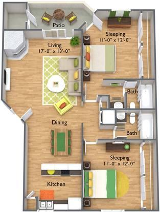 2 Bedrooms 2 Bathrooms Apartment for rent at Brookfield Apartment Homes in Phoenix, AZ