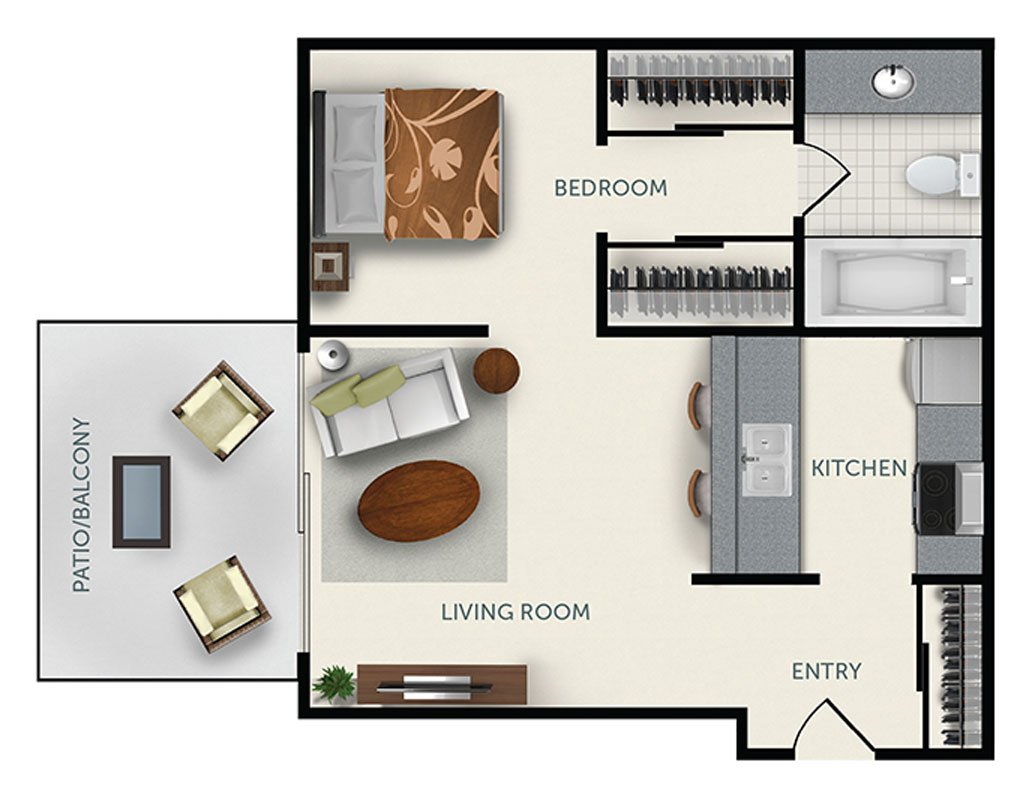 1 Bedroom 1 Bathroom Apartment for rent at Colter Park Apartments in Phoenix, AZ