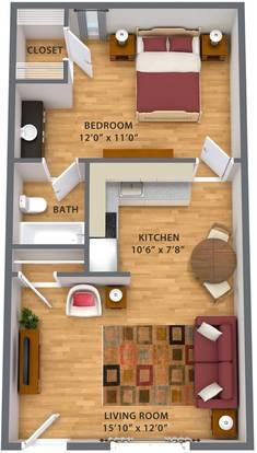 1 Bedroom 1 Bathroom Apartment for rent at Escondido Apartments in Phoenix, AZ