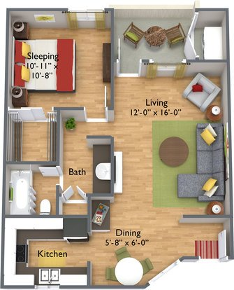 1 Bedroom 1 Bathroom Apartment for rent at Spring Apartments in Phoenix, AZ