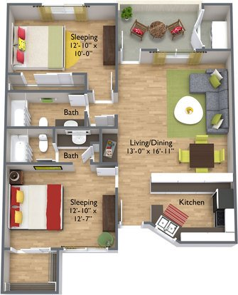 2 Bedrooms 2 Bathrooms Apartment for rent at Spring Apartments in Phoenix, AZ