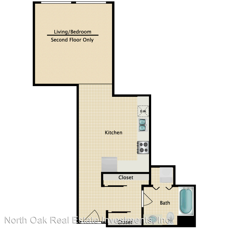 Studio 1 Bathroom Apartment for rent at 5514 Bonner Ave. in North Hollywood, CA