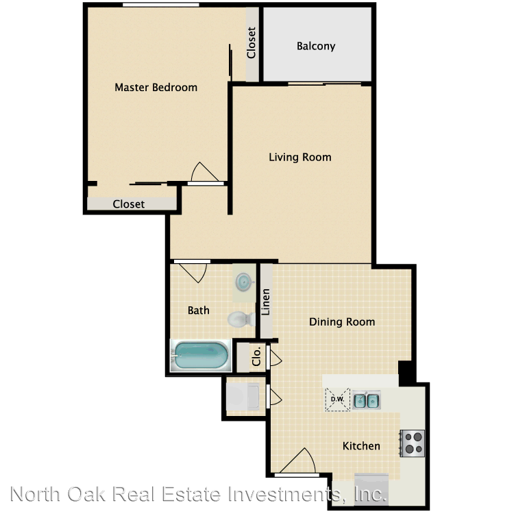 1 Bedroom 1 Bathroom Apartment for rent at 5514 Bonner Ave. in North Hollywood, CA