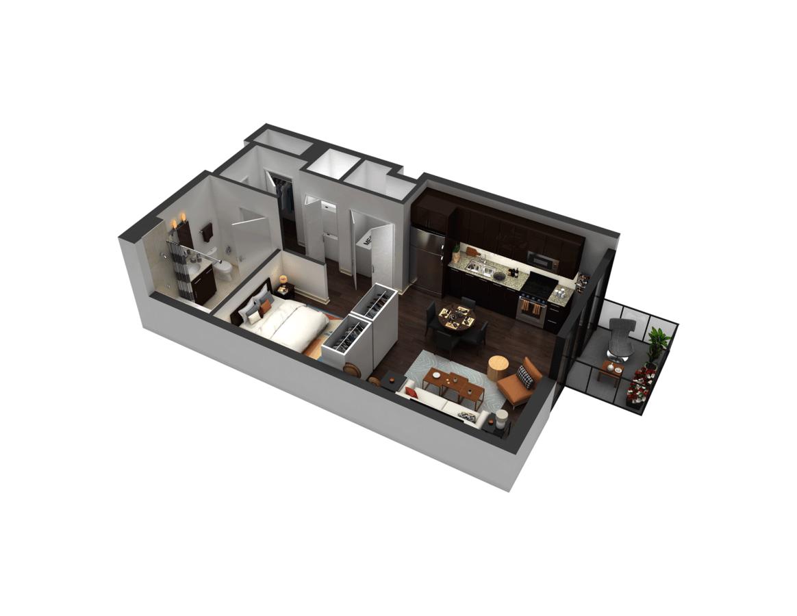 Studio 1 Bathroom Apartment for rent at 1717 Apartments in Evanston, IL