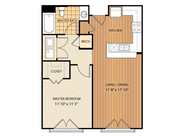 1 Bedroom 1 Bathroom Apartment for rent at Regency Johns Creek Walk in Johns Creek, GA