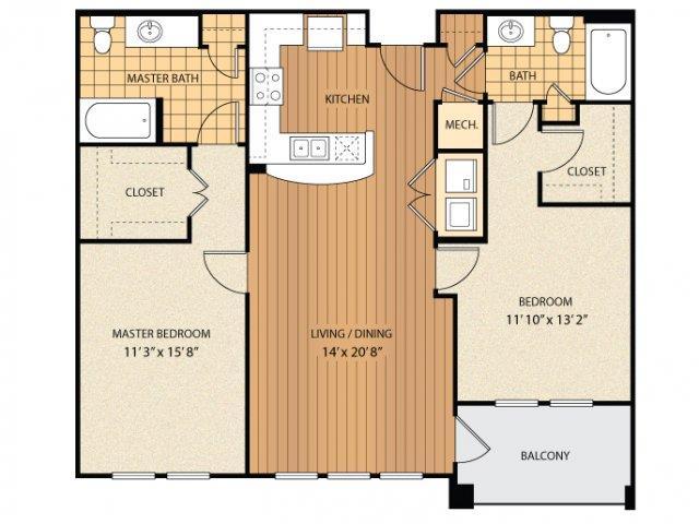 2 Bedrooms 2 Bathrooms Apartment for rent at Regency Johns Creek Walk in Johns Creek, GA