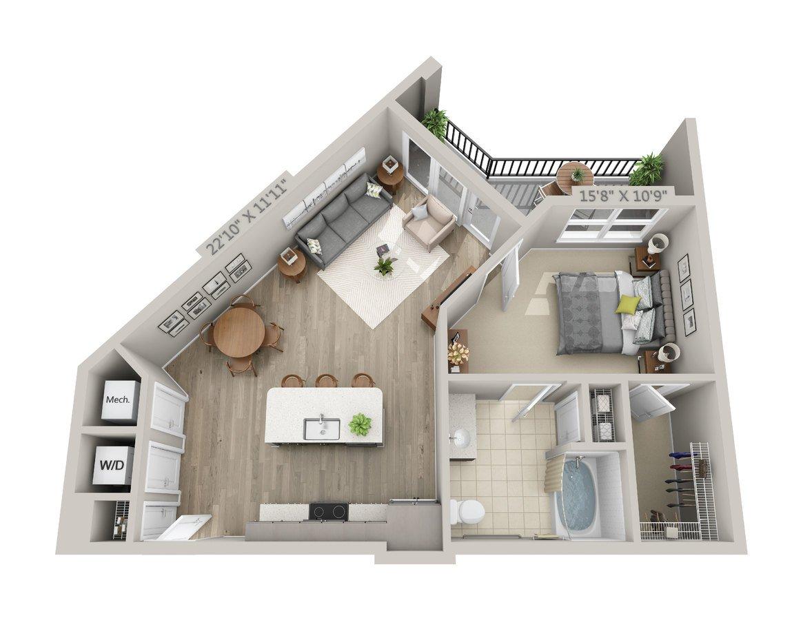 1 Bedroom 1 Bathroom Apartment for rent at Reserve Decatur in Decatur, GA