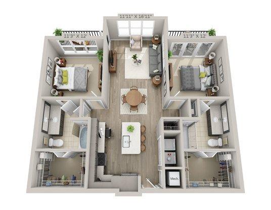 2 Bedrooms 2 Bathrooms Apartment for rent at Reserve Decatur in Decatur, GA