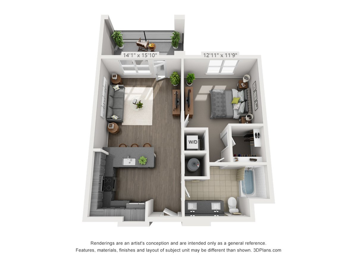 1 Bedroom 1 Bathroom Apartment for rent at Mayfair Reserve in Wauwatosa, WI