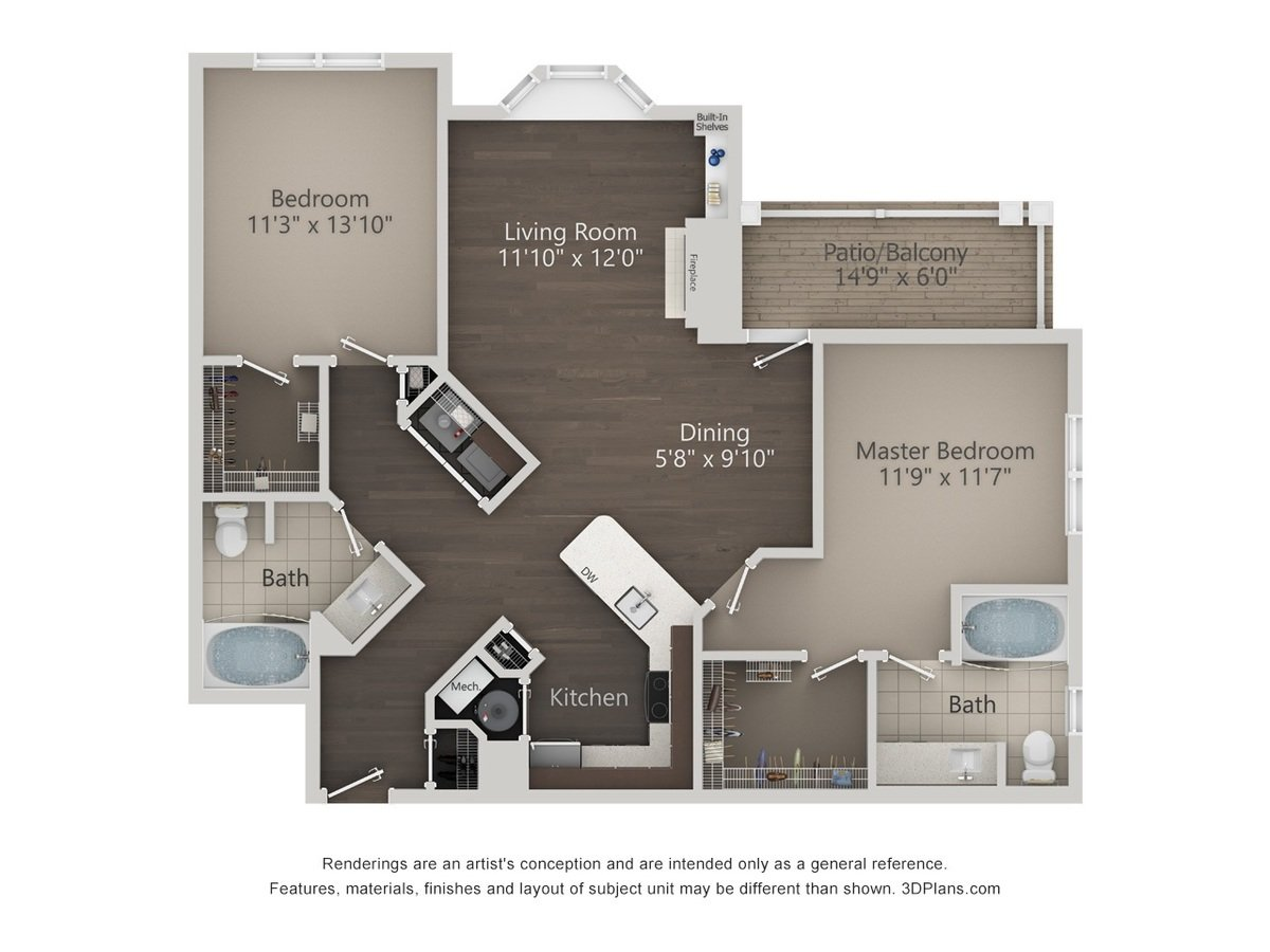 2 Bedrooms 2 Bathrooms Apartment for rent at Reserve At Wauwatosa Village in Wauwatosa, WI