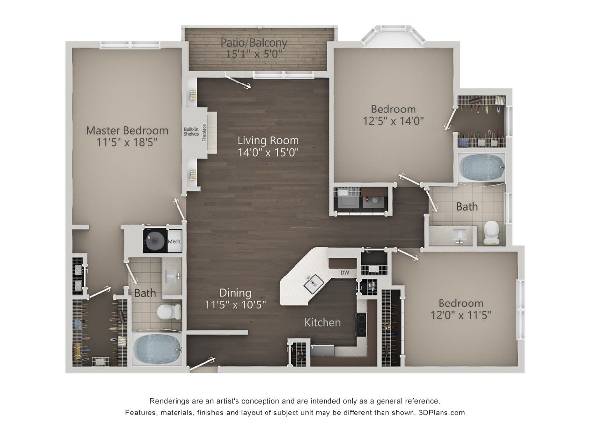 3 Bedrooms 2 Bathrooms Apartment for rent at Reserve At Wauwatosa Village in Wauwatosa, WI