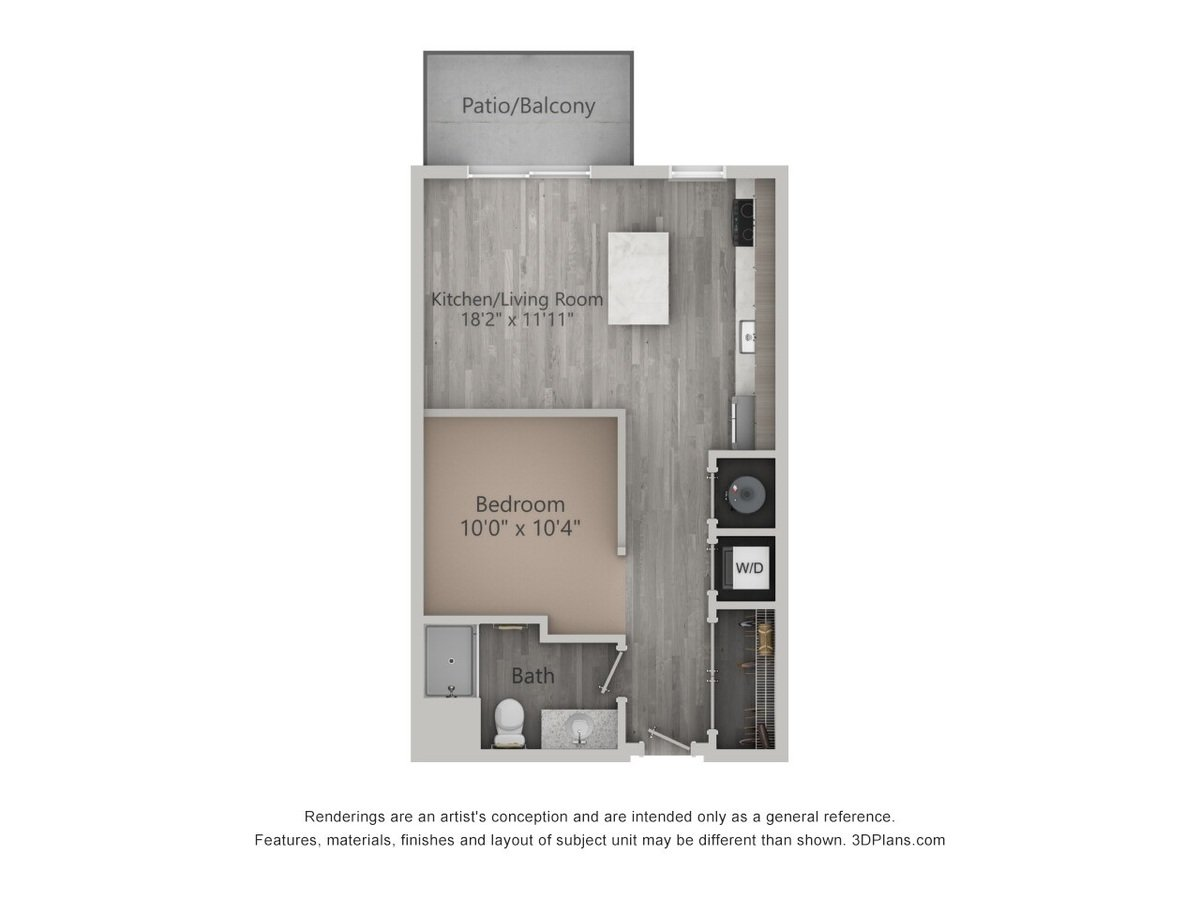 Studio 1 Bathroom Apartment for rent at Brookfield Reserve in Brookfield, WI