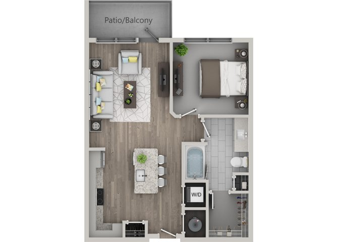 1 Bedroom 1 Bathroom Apartment for rent at Revel Ballpark in Smyrna, GA