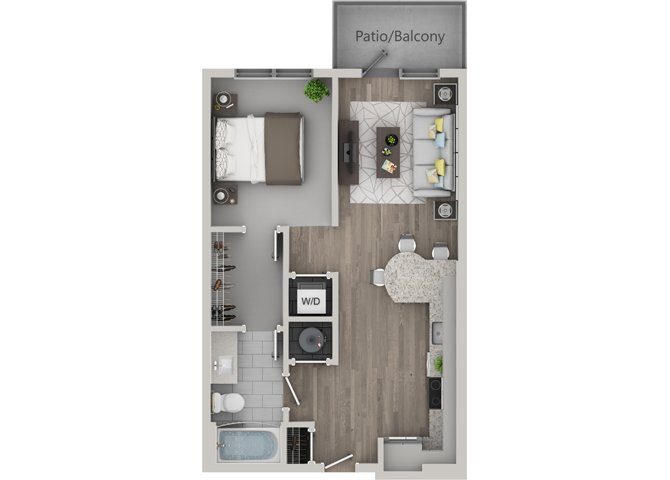 Studio 1 Bathroom Apartment for rent at Revel Ballpark in Smyrna, GA