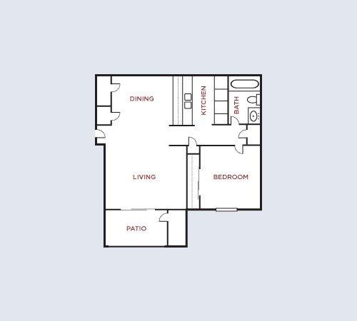 1 Bedroom 1 Bathroom Apartment for rent at Twyckenham in Lafayette, IN