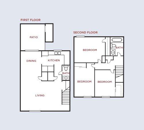 3 Bedrooms 2 Bathrooms Apartment for rent at Twyckenham in Lafayette, IN