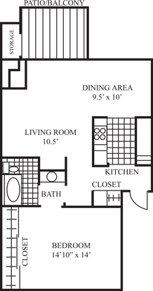 1 Bedroom 1 Bathroom Apartment for rent at Laguna Clara Apartments in Santa Clara, CA