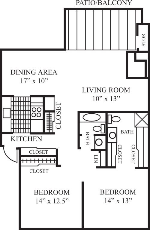 2 Bedrooms 2 Bathrooms Apartment for rent at Laguna Clara Apartments in Santa Clara, CA