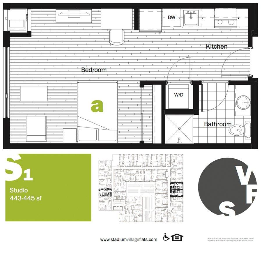 Studio 1 Bathroom Apartment for rent at Stadium Village Flats in Minneapolis, MN