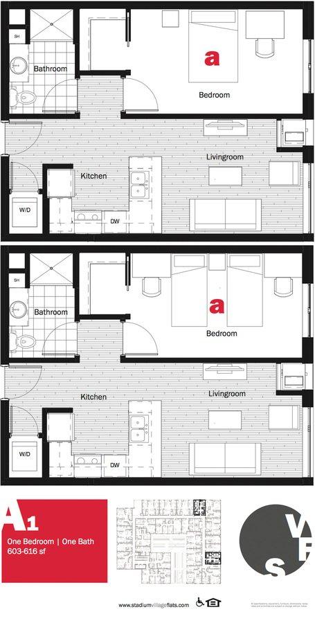 1 Bedroom 1 Bathroom Apartment for rent at Stadium Village Flats in Minneapolis, MN