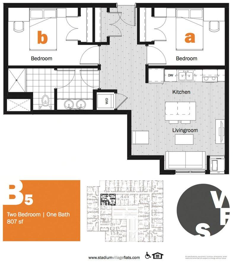 2 Bedrooms 1 Bathroom Apartment for rent at Stadium Village Flats in Minneapolis, MN