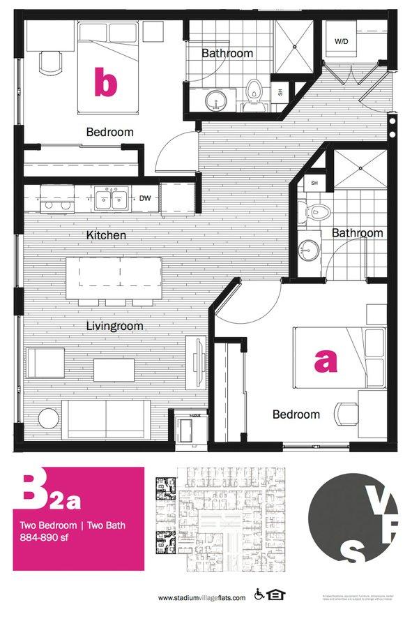 2 Bedrooms 2 Bathrooms Apartment for rent at Stadium Village Flats in Minneapolis, MN