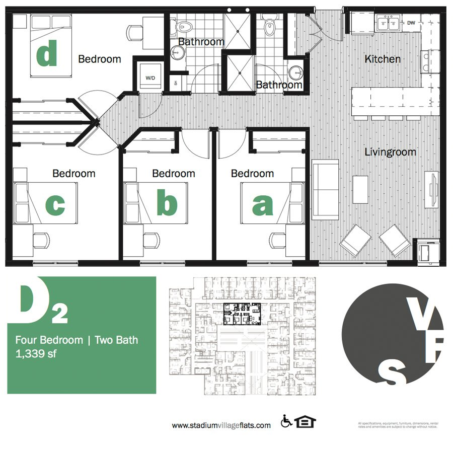 4 Bedrooms 2 Bathrooms Apartment for rent at Stadium Village Flats in Minneapolis, MN