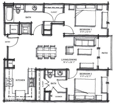 2 Bedrooms 2 Bathrooms Apartment for rent at Corazon in Austin, TX