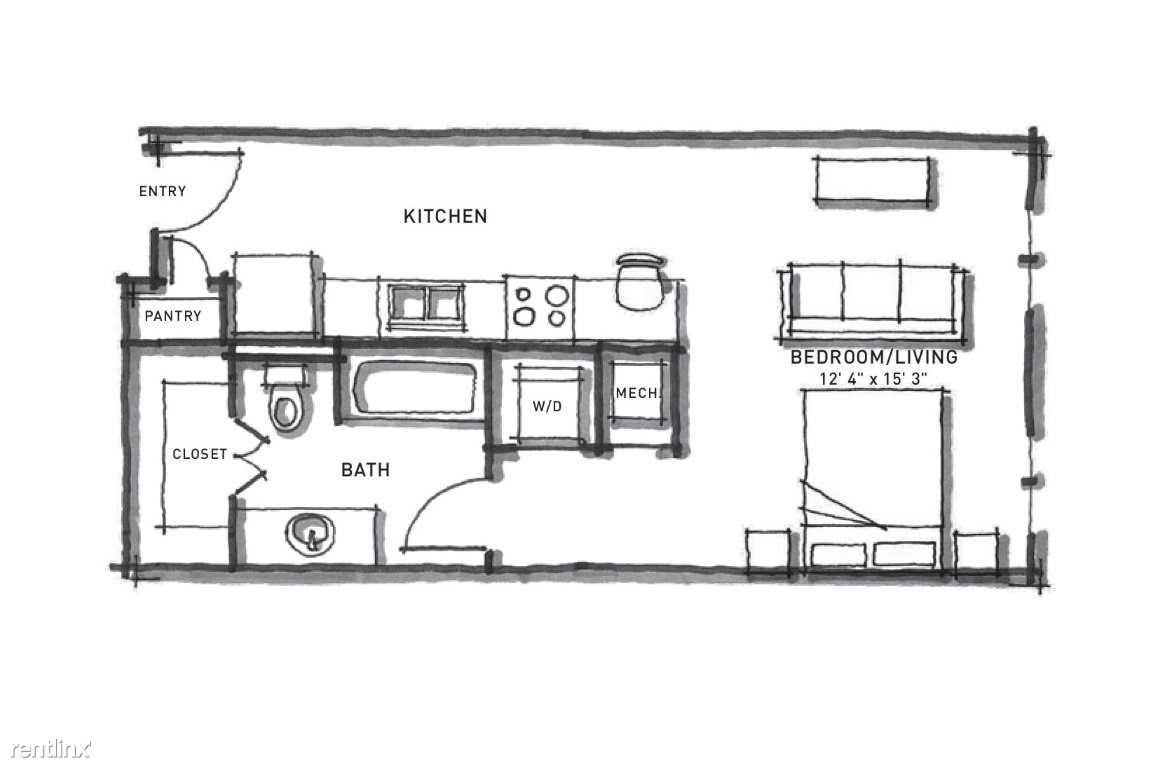 Studio 1 Bathroom Apartment for rent at Corazon in Austin, TX