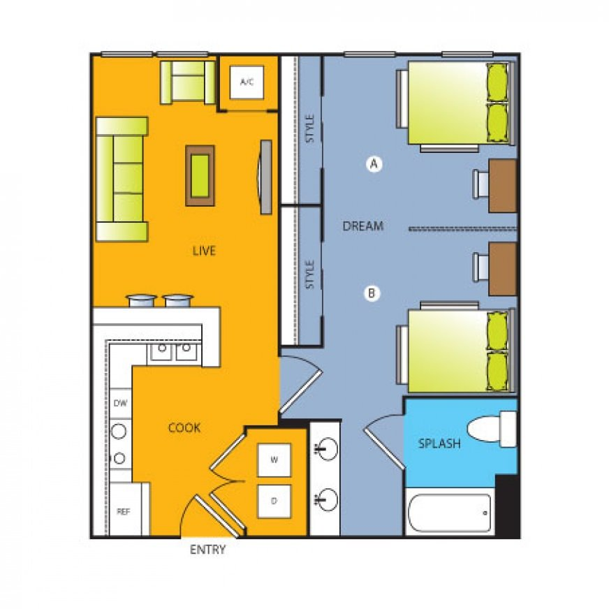 2 Bedrooms 1 Bathroom Apartment for rent at Forty Four North in Minneapolis, MN