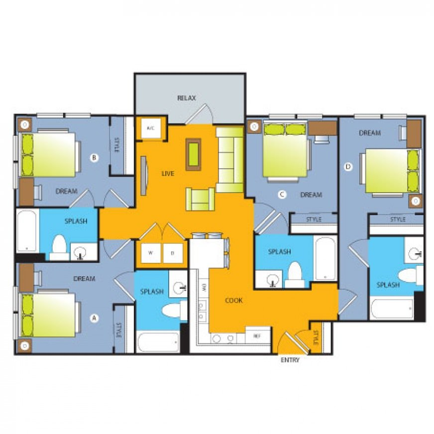 4 Bedrooms 3 Bathrooms Apartment for rent at Forty Four North in Minneapolis, MN