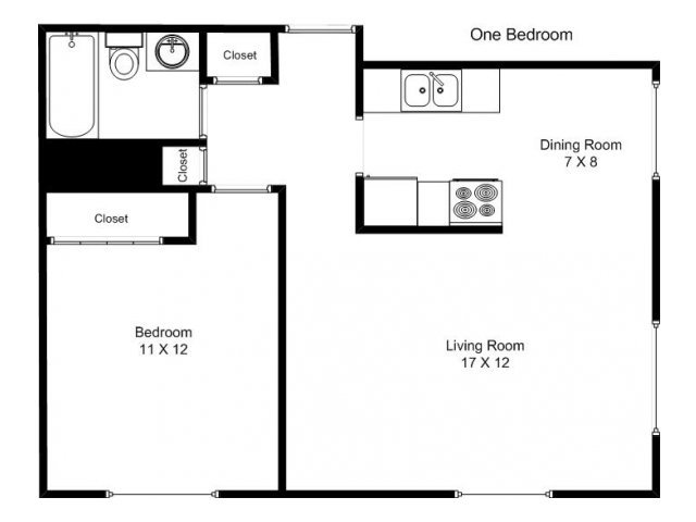 1 Bedroom 1 Bathroom Apartment for rent at 2440 Dupont  in Minneapolis, MN