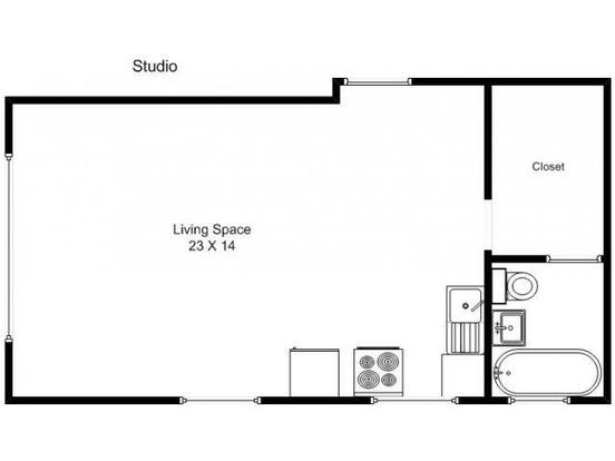 Studio 1 Bathroom Apartment for rent at 1910 1st Ave. in Minneapolis, MN